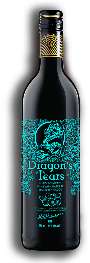 Dragons Tears Blueberry Wine by Minhas Winery