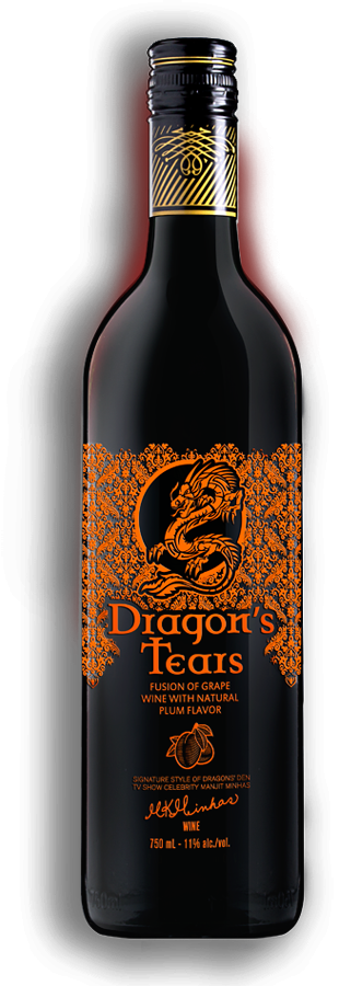 Dragons Tears Plum Wine by Minhas Winery
