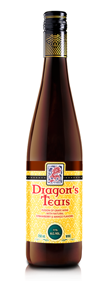 Dragons Tears Strawberry & Mango Wine by Minhas Winery